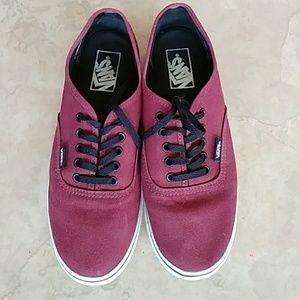 69954b035a Vans Shoes - VANS Shoes Unisex Dark Red Women Sz 7.5 Men Sz 6